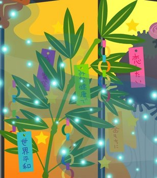 【ヤミショップ】七夕アイテム目白押し「笹飾り」「漂う天の川」「ジオラマ人形・彦星」「ジオラマ人形・織姫」