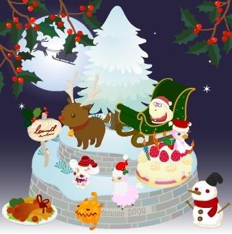 メリー・クリスマス「トナカイのぬいぐるみとかミュラー博士の人形」